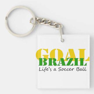 El Brasil - la vida es un balón de fútbol Llavero