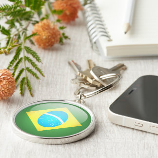 El Brasil - llavero redondo superior