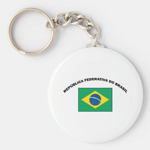 El Brasil Llavero Redondo Tipo Pin