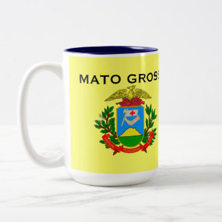 El Brasil Mato Grosso* Mug Caneca de Mato Grosso Taza De Dos Tonos