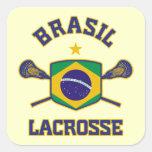 El Brasil Pegatina Cuadrada