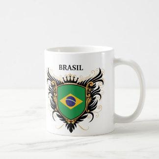 El Brasil [personalice] Taza Básica Blanca