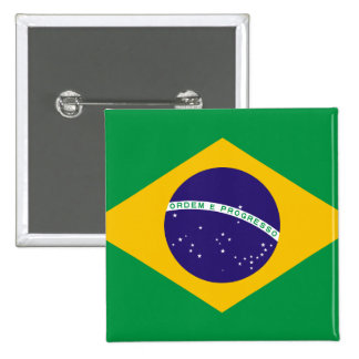 el Brasil Pin Cuadrado