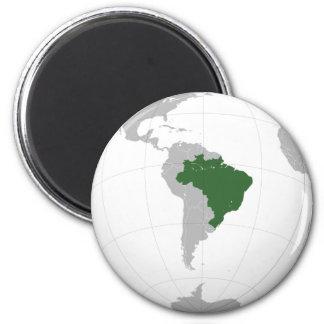 El Brasil (proyección orthográfica) Imanes