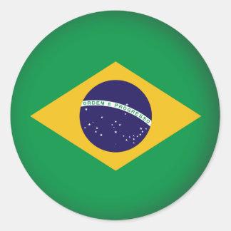 El Brasil redondo Pegatina Redonda