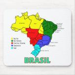 El Brasil. Regiones en color Alfombrillas De Raton