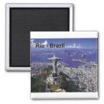 El Brasil Río de Janeiro (St.K.) Imán Cuadrado