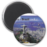 El Brasil Río de Janeiro (St.K.) Imán Redondo 5 Cm