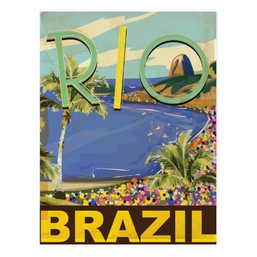 El Brasil - Río de Janeiro Tarjeta Postal
