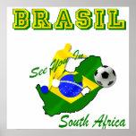El Brasil Suráfrica califica el Brasil T Póster