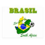 El Brasil Suráfrica califica el Brasil T Tarjeta Postal