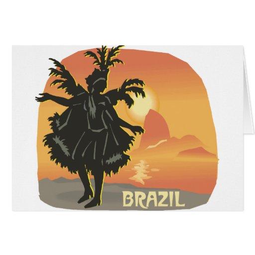El Brasil Tarjeta De Felicitación