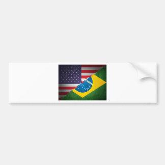 el Brasil y América Pegatina De Parachoque