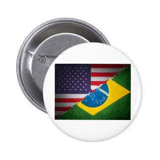 el Brasil y América Pin Redondo 5 Cm