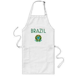 El Brasil y escudo de armas Delantal