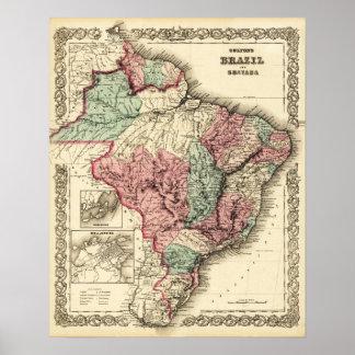 El Brasil y GuayanaPanoramic MapBrazil Impresiones