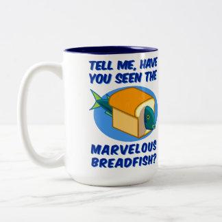 El Breadfish maravilloso Taza De Dos Tonos