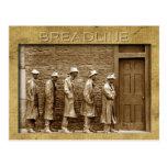 El Breadline esculpe, monumento del FDR, DC Tarjetas Postales