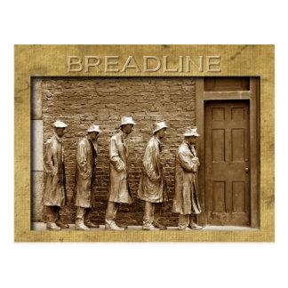 El Breadline esculpe monumento del FDR DC Tarjetas Postales