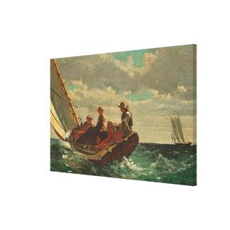 El Breezing encima (un viento justo) de 1873-76 Impresión En Lienzo