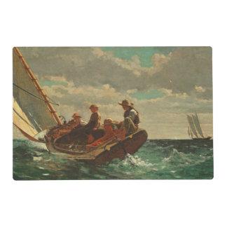 El Breezing encima (un viento justo) de 1873-76 Tapete Individual