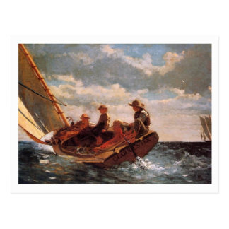 El Breezing para arriba por Winslow Homer Tarjetas Postales