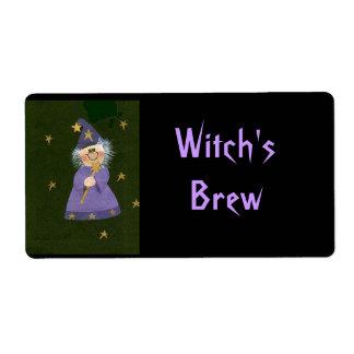 El Brew de la bruja Etiquetas De Envío