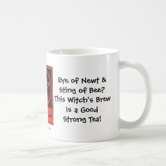 ¡El Brew de la bruja! Taza/taza de los Té-adictos Taza