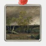 El brezo en una tormenta, 1896 adorno navideño cuadrado de metal