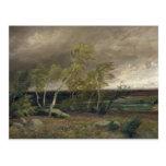 El brezo en una tormenta, 1896 postal
