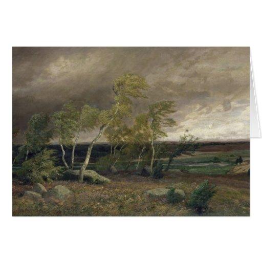 El brezo en una tormenta, 1896 tarjeta de felicitación