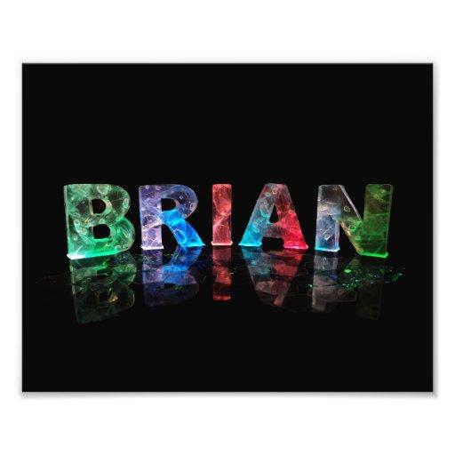 El Brian conocido en las luces 3D Fotografía