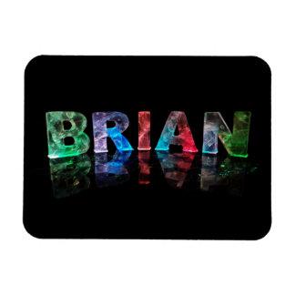 El Brian conocido en las luces 3D Iman De Vinilo