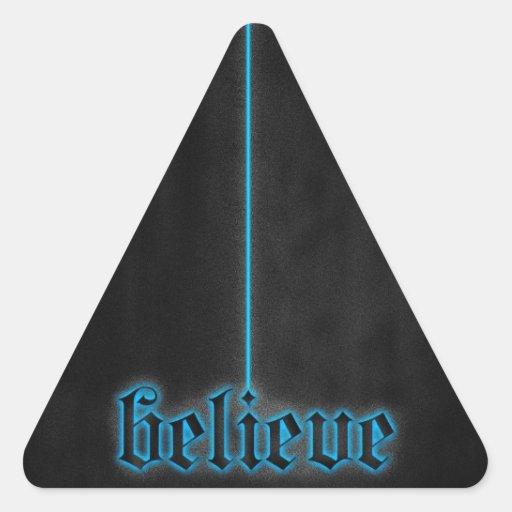 El brillar intensamente azul cree colcomanias de trianguladas