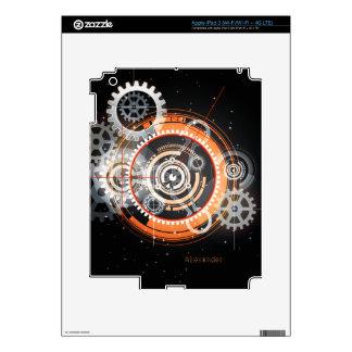 El brillar intensamente de alta tecnología adapta iPad 3 skins