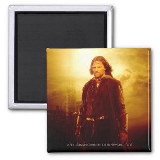 El brillar intensamente de Aragorn Imán Cuadrado