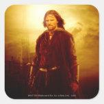El brillar intensamente de Aragorn Calcomania Cuadradas