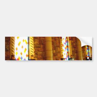 El brillar intensamente de cristal pegatina de parachoque