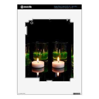 El brillar intensamente de cristal con las velas iPad 3 pegatinas skins