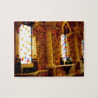 El brillar intensamente de cristal puzzle con fotos
