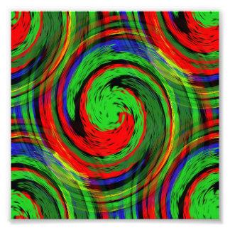 El brillar intensamente diseño rojo verde y arte fotografico