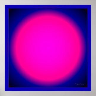 El brillar intensamente nunca de extensión rosado poster