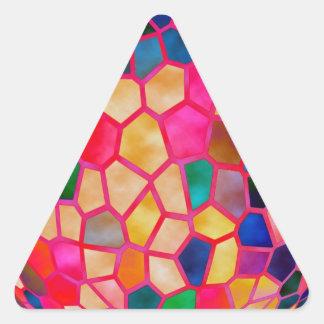 El brillar intensamente rojo claro de STBX cristal Pegatinas Triangulo