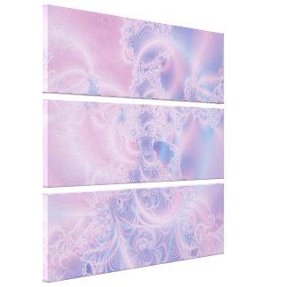 El brillar intensamente rosado impresión en lienzo estirada
