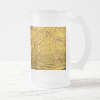 El brillar intensamente taza de cristal