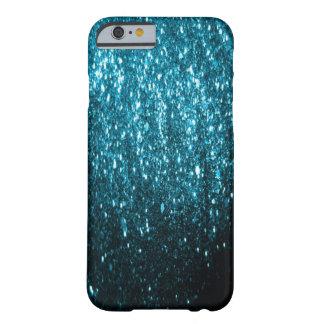 El brillo azul chispea caso del iPhone 6 Funda De iPhone 6 Slim