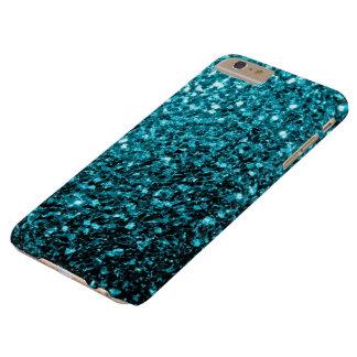 El brillo azul de la aguamarina chispea caso más funda barely there iPhone 6 plus
