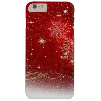 El brillo brillante elegante del navidad chispea funda para iPhone 6 plus barely there