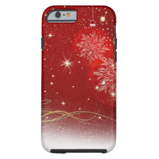El brillo brillante elegante del navidad chispea funda para iPhone 6 tough