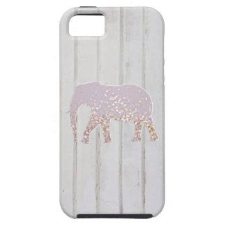 El brillo caprichoso chispea elefante en el diseño iPhone 5 protectores